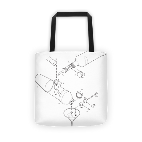 Exploded Martini Tote Bag