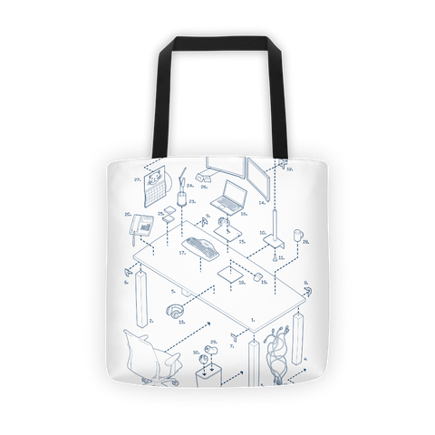 Exploded Modern Work Space Tote Bag
