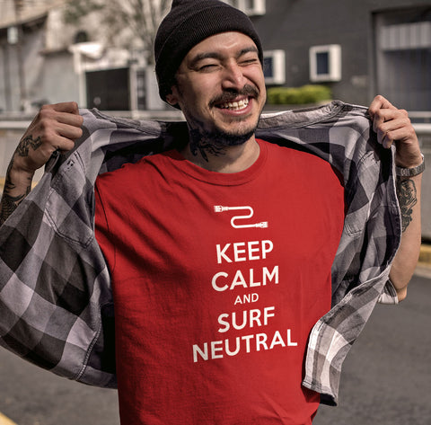 Keep Calm Surf Neutral Net Neutrality Graphic Tee