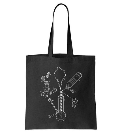 Exploded Bong Tote Bag