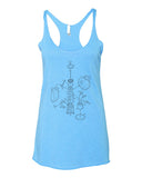 Exploded French Press Women's Racerback Tank