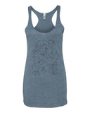 Exploded Modern Work Space Women's Racerback Tank