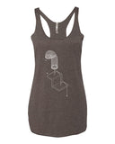 Exploded Slinky Women's Racerback Tank