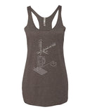 Exploded Beer Tap and Mug Women's Racerback Tank