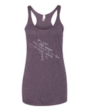 Exploded AR-15 Semi-Automatic Rifle Women's Racerback Tank