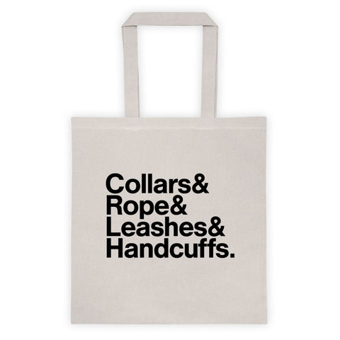 BDSM List Restraint Tote Bag