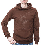 Exploded Martini Unisex Fleece Pullover Hoodie