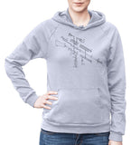 Exploded AR-15 Semi-Automatic Rifle Unisex Fleece Pullover Hoodie