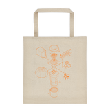 Exploded Pumpkin Spice Latte Tote Bag