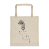 Exploded Slinky Tote Bag