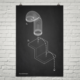 Exploded Slinky Poster Art Print