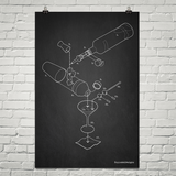 Exploded Martini Poster Art Print
