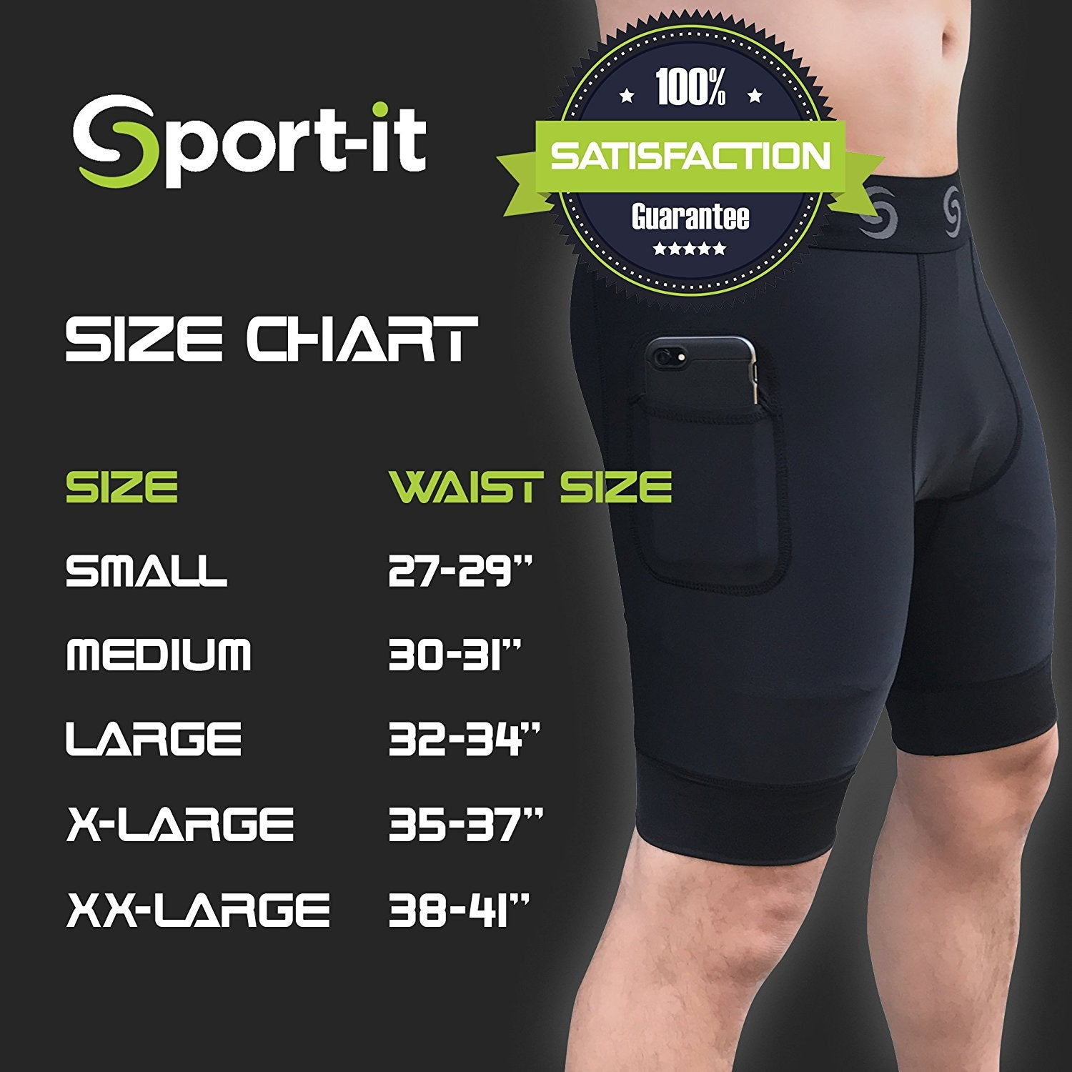 Go Sport-it: MEN'S COMPRESSION SHORTS with Side Pockets