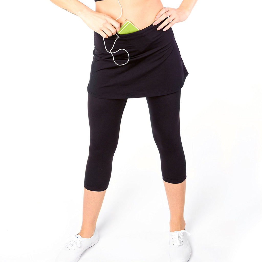 Go Sport-it: SKIRTED CAPRI Leggings with Pockets and Tummy Control