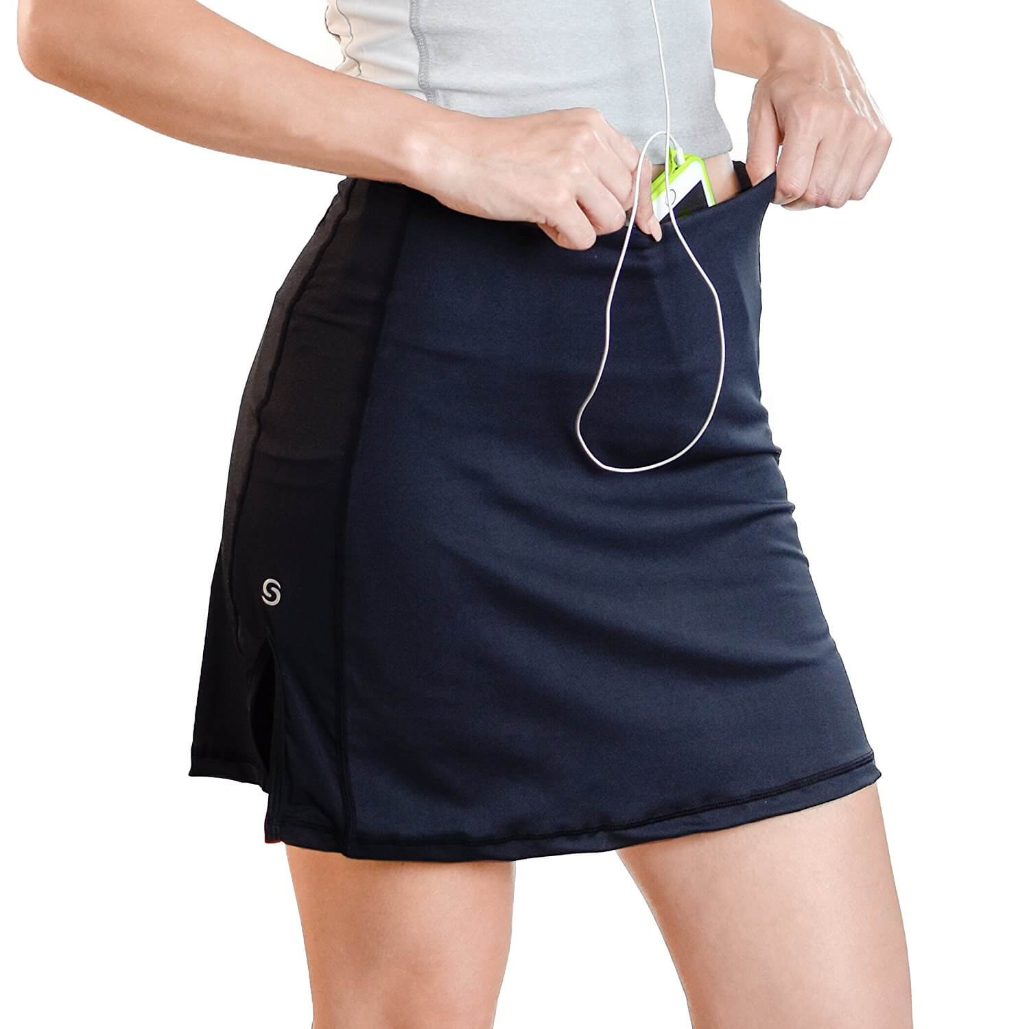 Go Sport-it: SPORT SKIRT with Built-in Shorts, Pockets, Tummy Control