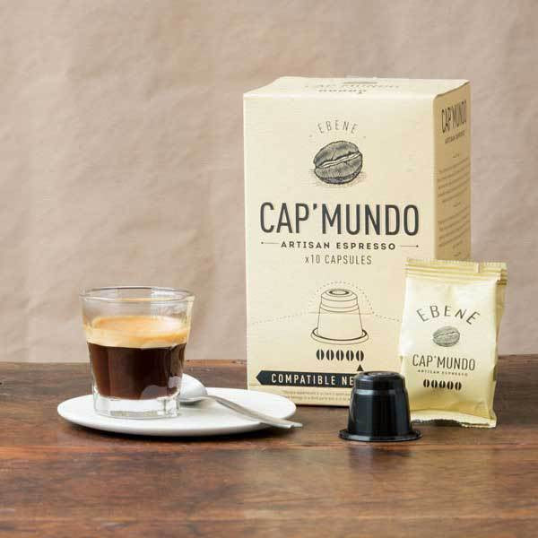Cap Mundo Coffee  Ebene Nespresso Compatible Coffee capsules/pods - Intensity: 5/5 - Geoartisans
