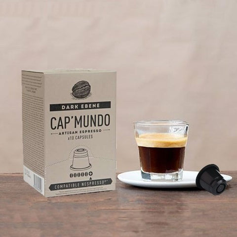 Cap Mundo Coffee Dark Ebene Nespresso Compatible Coffee capsules/pods - Intensity: 5+/5 - Geoartisans