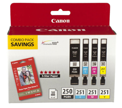 Canon PGI-250/CLI-251  4PK 4-Ink (Black, Cyan, Magenta, Yellow)