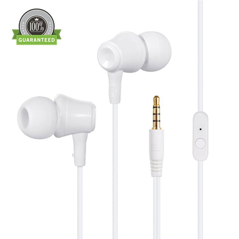 Amoner Stereo In-Ear Headphones Earphones Earbuds Headsets with Biult-in Mic & Remote Control for iPhone