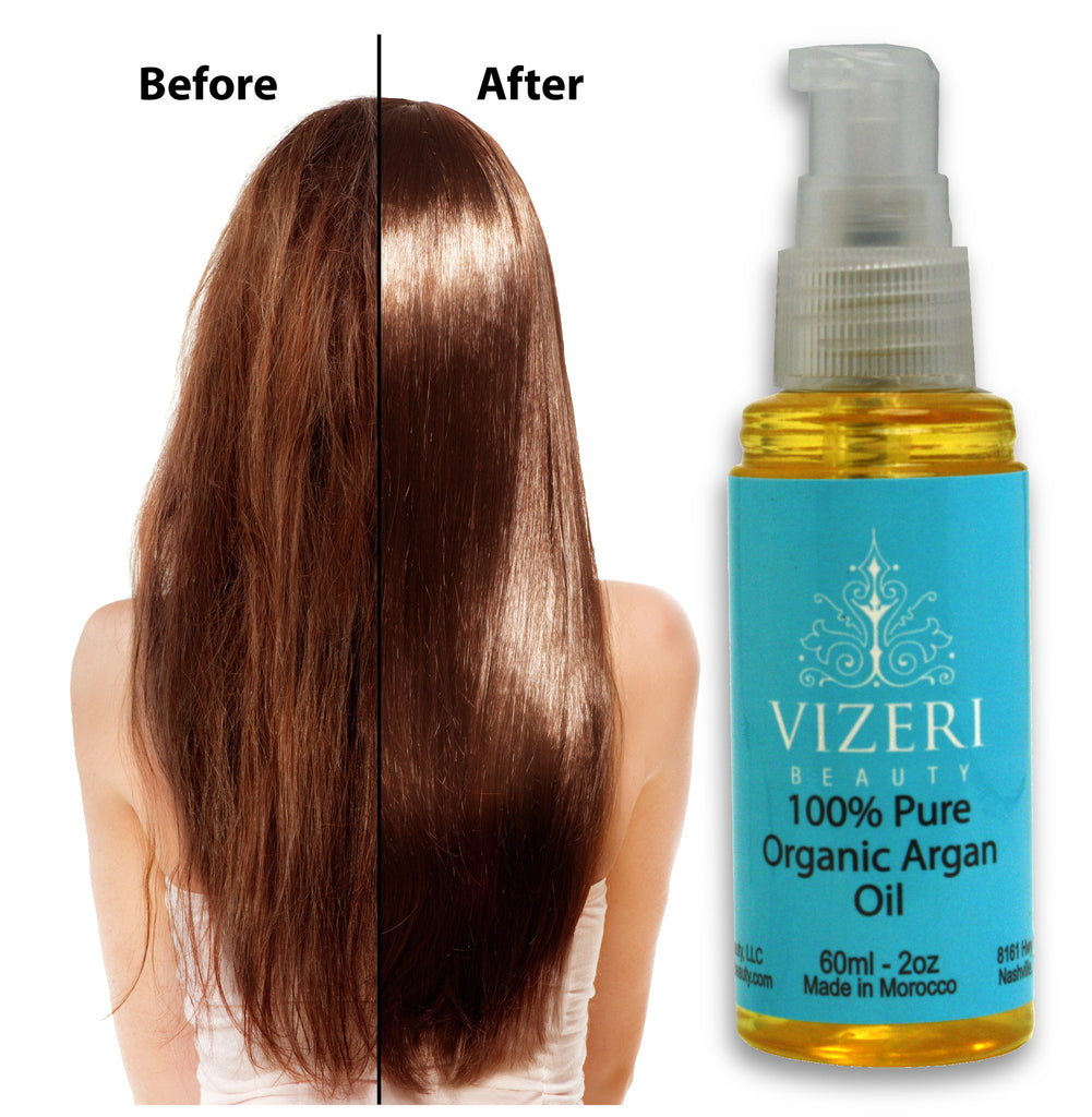 100% Pure Organic Moroccan Argan Oil For Hair, Skin, Nails