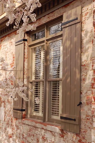 Artisan accents like shutter straps and shutter dogs add beauty and value to your home.