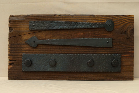Custom forged iron hardware can be made to look hundreds of years old or finished in our hand applied patinas.
