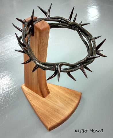 A hand forged Crown of Thorns by Artist Blacksmith Walter Howell of Walter Forge