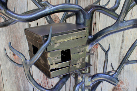 Meet me at the tree house. Forged metal art at Walter Forge