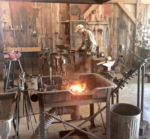 The artist blacksmith works with equipment and process that has been used for generations.