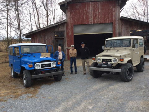 Vintage Land Rovers and old and new friends at the forge