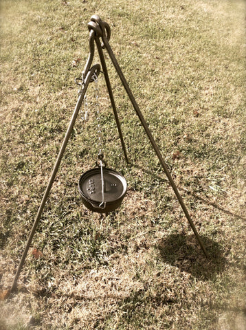 Forged Iron Tripod Camp cooking equipment