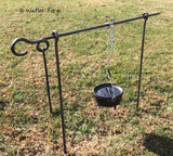 Forged iron tripod for camp cooking by Walters Forge