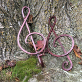 Hand forged iron treble clef. A Walter Forge tribute to music and a unique gift item