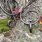 The tail of the treble clef is perfect for adding a functional twist to create a strong beautiful wall hook.