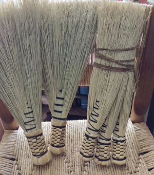 Our replacement broom heads are hand tied by broom maker Lenton Williams