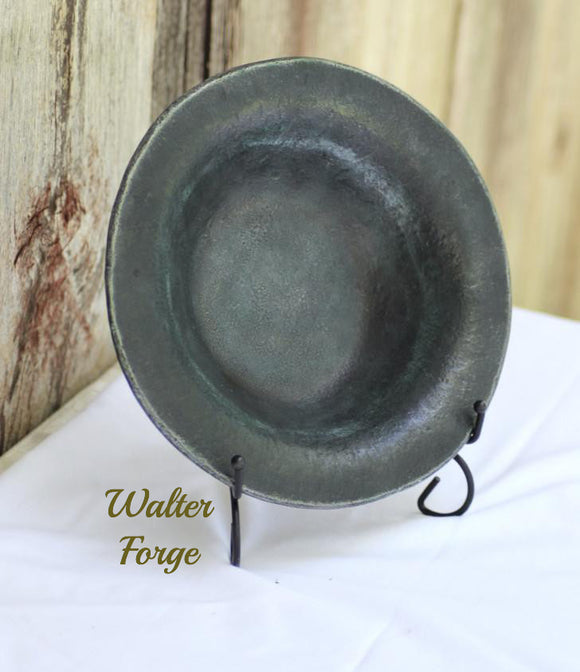Forged Steel bowl 8 inches in diameter in natural finish.