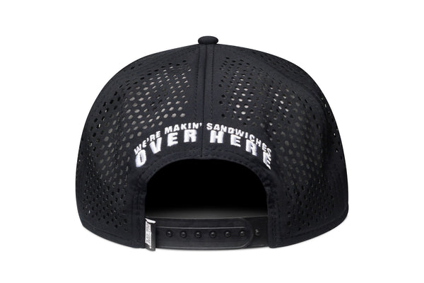 Fat Sal's x Hall of Fame Black/White Perf Snapback