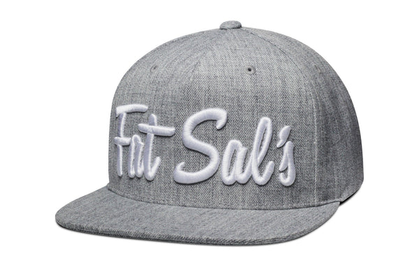 Copy of Fat Sal's x Hall of Fame Heather Grey/White Snapback