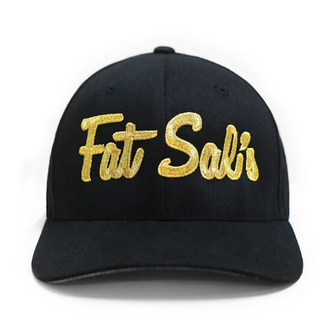 Black Flexfit Hat w/ Gold