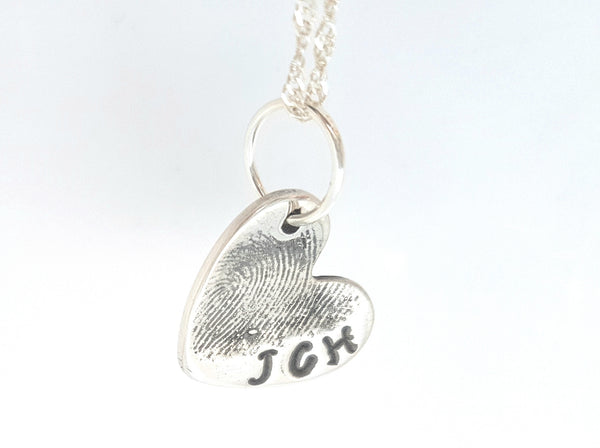 Standard Heart Fingerprint Charm