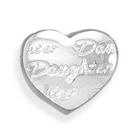"Heart Shaped ""Daughter"" Bead"