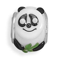 Black and White Panda Bead