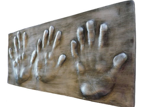 Three Family Hand Print ~ Unframed