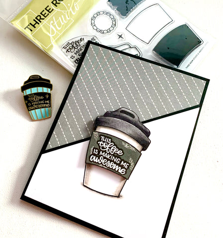 Awesome Coffee Stamp Set and Card
