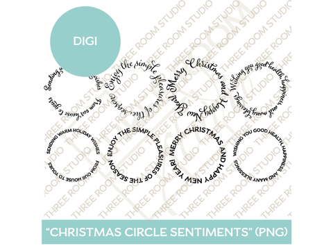 "Digi - ""Christmas Circle Sentiments"""