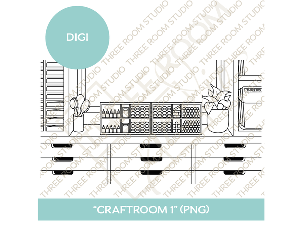 "Digi - ""Craftroom 1"" Background"