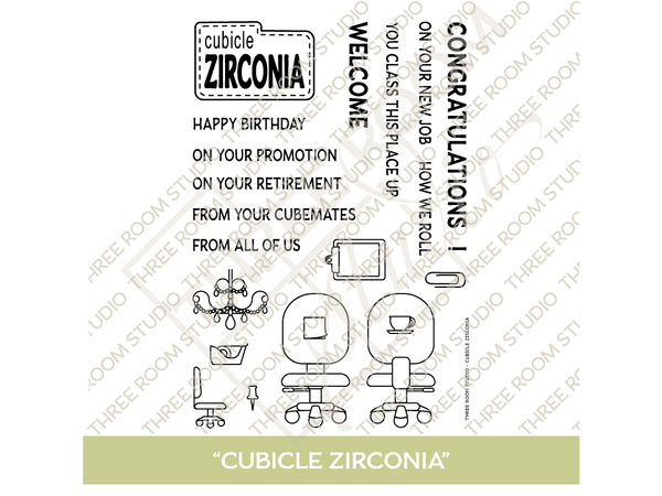 """Cubicle Zirconia"" Clear Stamp Set"