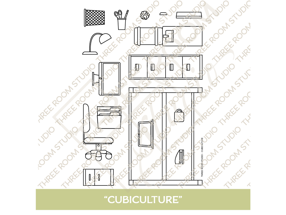 """Cubiculture"" Clear Stamp Set"