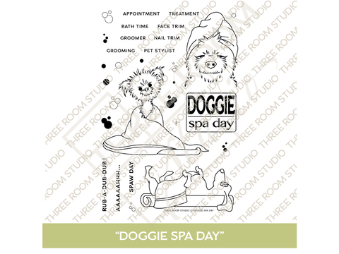 """Doggie Spa Day"" Clear Stamp Set"