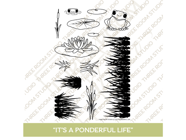 """It's a Ponderful Life"" Clear Stamp Set"